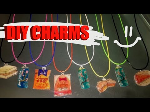 How to make Necklace Charms & Pins - DIY Inkjet Shrinky Dinks Resin