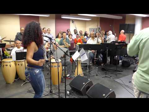 Lisett Morales - Ensayo para HOMMY, A Salsa Opera by Larry Harlow