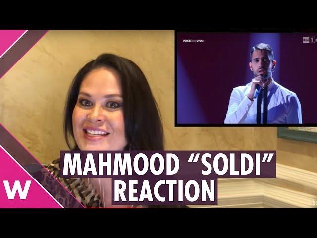 Mahmood Soldi reaction   Italy Eurovision 2019