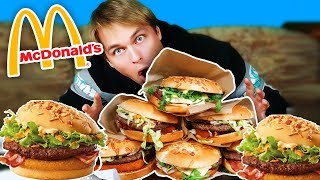 BURGER DRWALA SPEED EATING CHALLENGE vs KAMERZYSTKA - OFERTA ZIMOWA z McDONALD'S | [Epic Speed Meal]