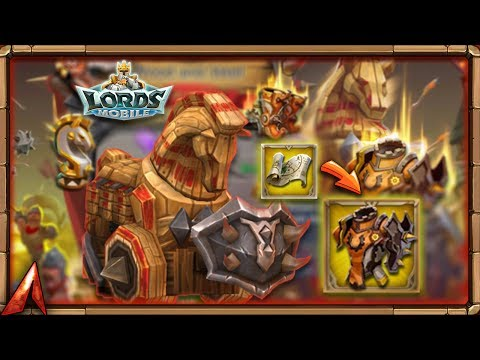 Lords Mobile - Taking Firewall Plate To Legendary! Opening Boxes!