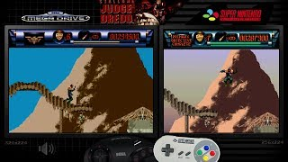 Скачать Judge Dredd Mega Drive Genesis SNES Comparison Preview