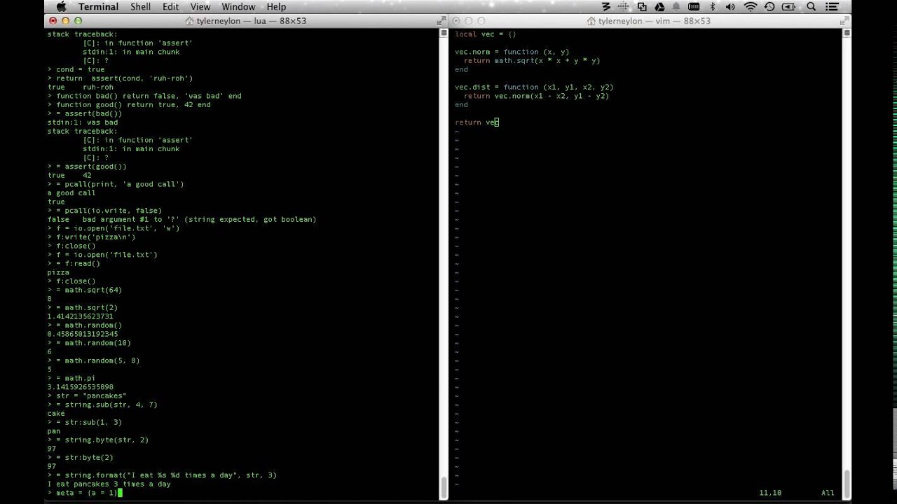 Learn lua code