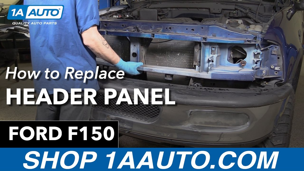 How to replace install header panel 98 ford f150 1a auto parts