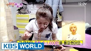 Seol Hyun filmed herself eat jajangmyeon and earned its commercial! [Happy Together / 2017.04.27]