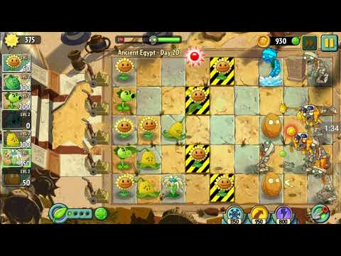 Learn_ play_of pvz2!||ancient Egypt|| day 20