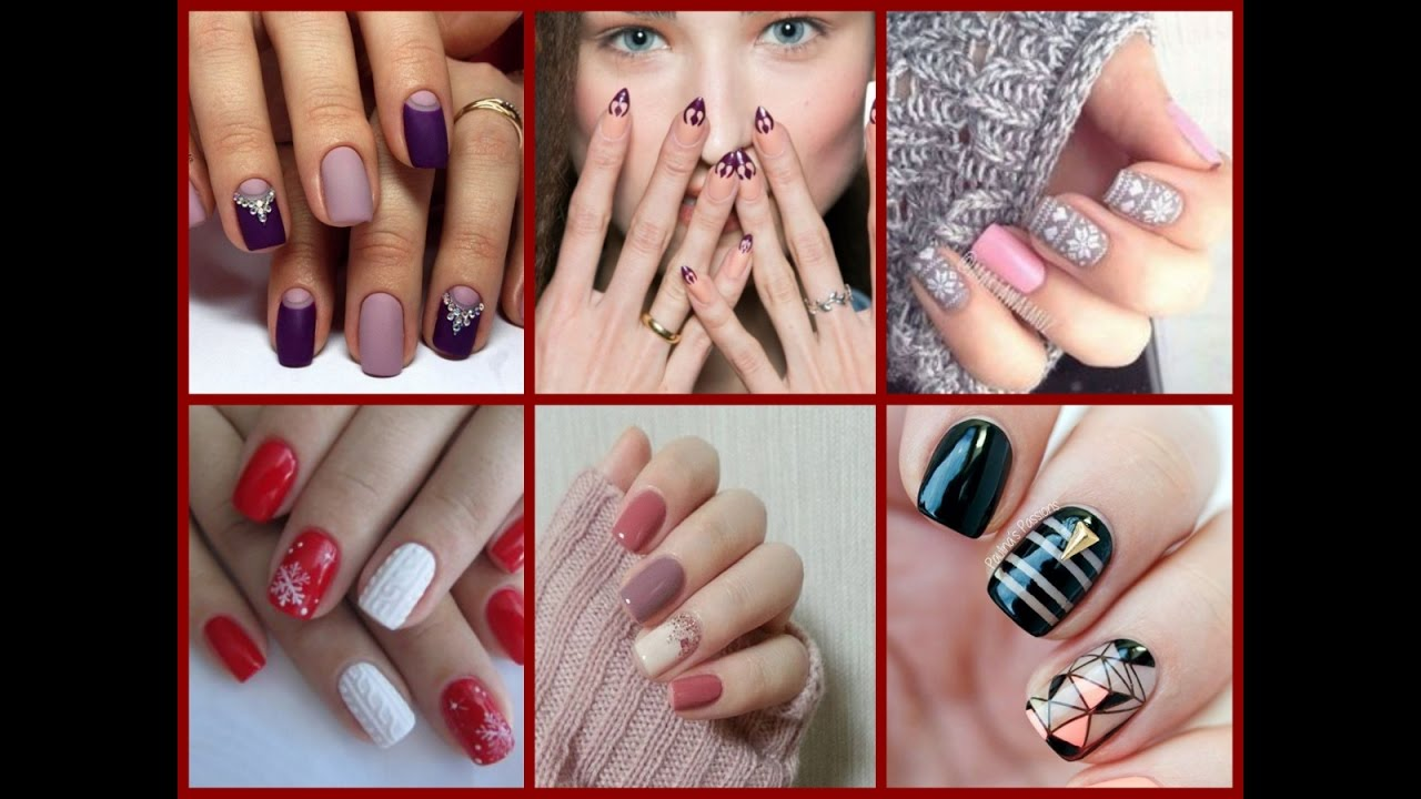 Winter Nail Trends \\ New Nail Art Ideas - YouTube