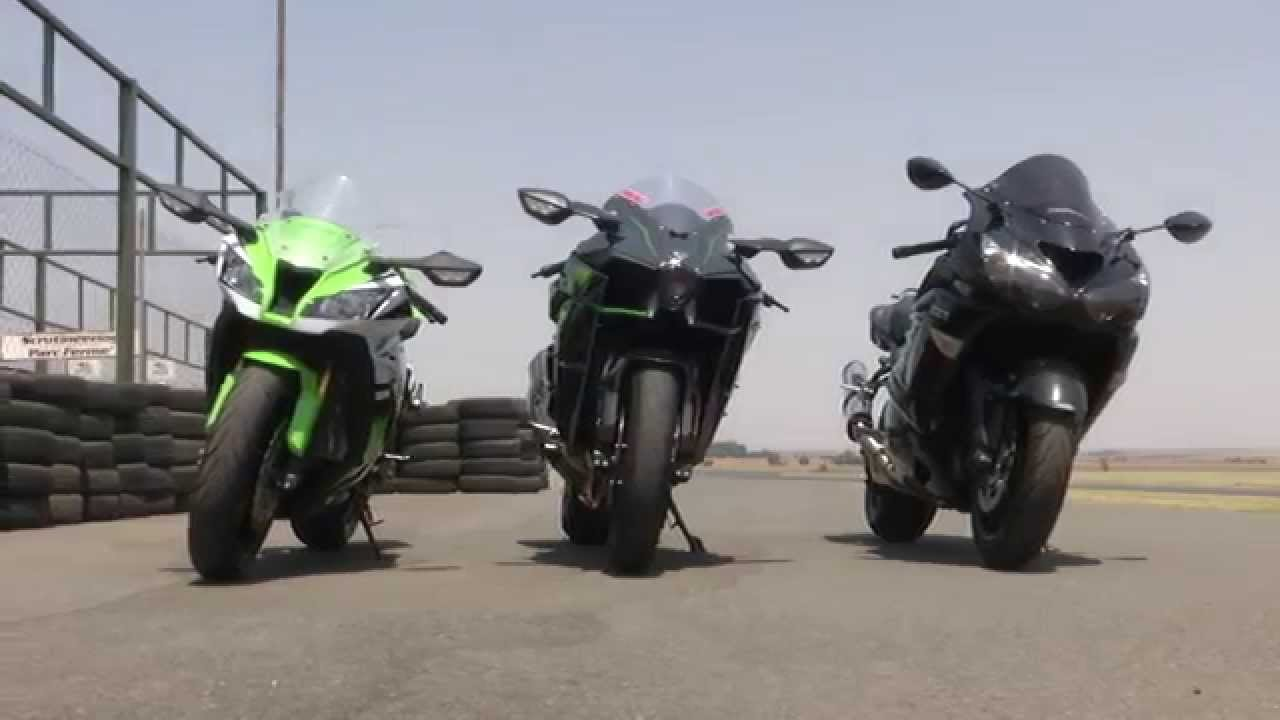 Kawasaki H2 Vs Zx10r Vs Zx14 Youtube