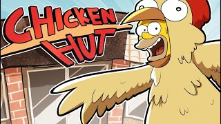 COME ON DOWN TO HOMER's CHICKEN HUT!