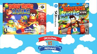 Original VS Remake - Diddy Kong Racing - N64 VS DS