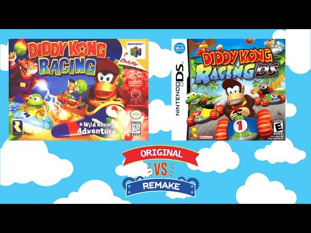 Original VS Remake - Diddy Kong Racing - N64 VS DS