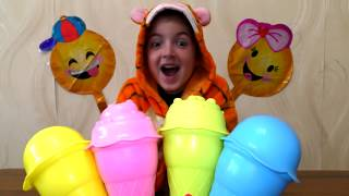 Sing and play with toys ice cream