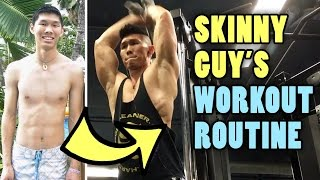 SKINNY MUSCLE GUY CHEST & BACK WORKOUT ROUTINE - Life After College: Ep. 465