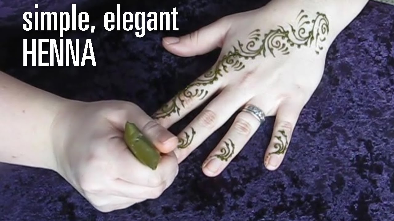 How To Do A Fast Elegant Henna Tattoo Design Swirls And Vines