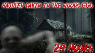 (SKIN WALKERS) 24 HOUR OVERNIGHT CHALLENGE at HAUNTED CABIN IN THE WOODS