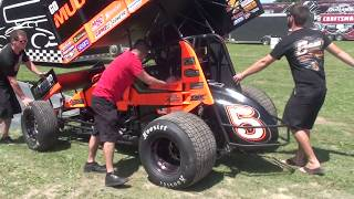 Jason Johnson # 41 & David Gravel 5g Unloading at Ohsweken Tues July 25 2017
