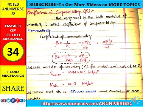compressibility. coefficient of compressibility- basic fluid mechanics 34 - anuniverse 22 compressibility