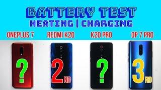 Redmi K20 Pro vs OnePlus 7: Battery Test | 27W Charging | PUBG Heating