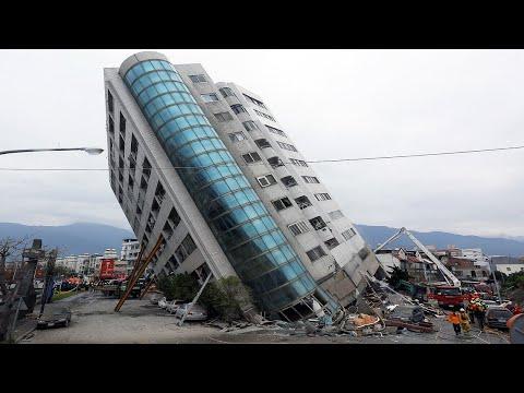 Самые мощные землетрясения снятые на камеру | Цунами в Японии, землетрясение в Мексике и другие
