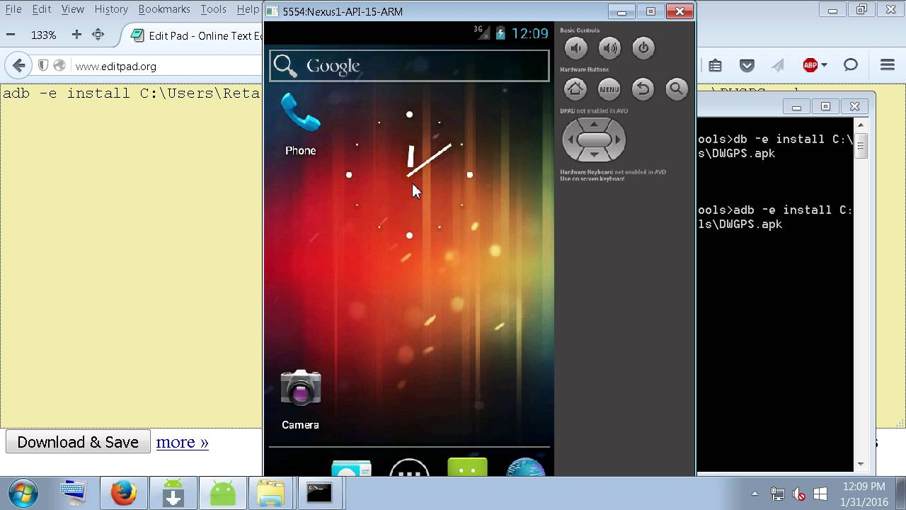 How To Install apk to Android Emulator Using ADB-AVD Manager