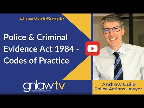 Police and Criminal Evidence Act 1984 - Topic