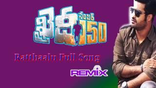 ratthaalu full song remix   khaidi no 150   ntr rambha   devi sri prasad lokesh videos