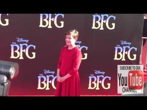 Ruby Barnhill at the Premiere Of Disney's The BFG at El Capitan Theatre in Hollywood