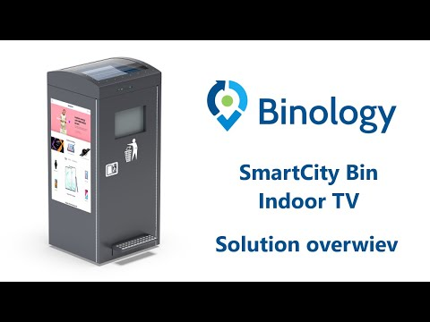 Binology Smart City Bin Indoor TV | Waste managment WM | Smart city | Iot system | www.binology.com