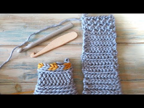 Slip Stitch Crochet / Bosnian Crochet / Shepherd's Knitting