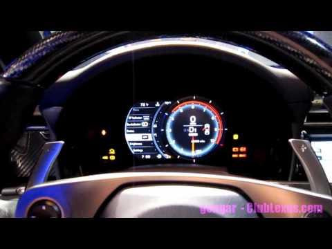 Lexus LFA customizable instrument panel