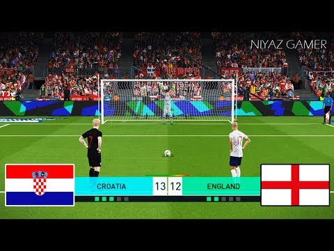 CROATIA vs ENGLAND | Penalty Shootout | PES 2018 Gameplay PC