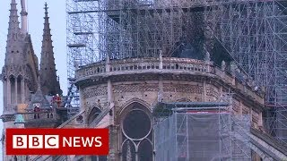 Notre-Dame fire: Millions pledged to rebuild cathedral - BBC News