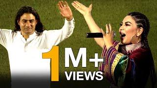 اجرای آهنگ های زیبا توسط آریانا سعید در مراسم افتتاحیه مسابقه فوتبال افغانستان و فلسطین