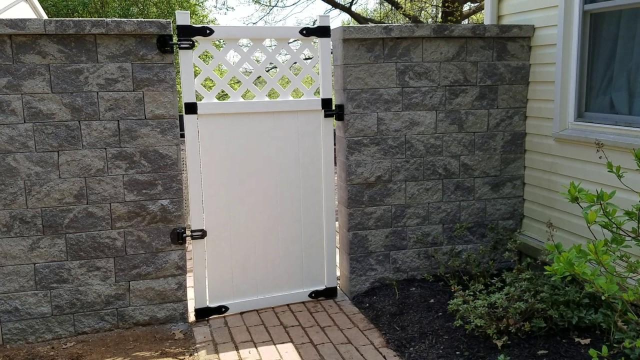 backyard privacy retaining wall u0026 gate installation in hanover pa