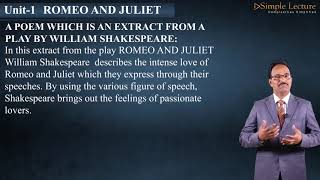 English for 2nd PU Romeo and Juliet