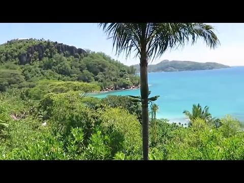Seychelles beautiful villas on the beach