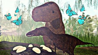 Mama T-Rex hunted 4 spinosaurs for me! Dinosaur Life! Roblox ERA OF TERR0R (EN/BR)