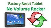 How to Hard Reset Tab Which Has no Volume Button | using keyboard