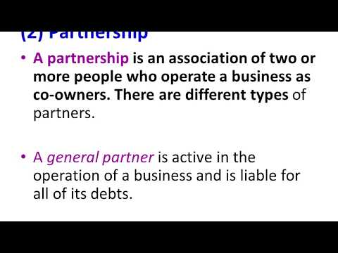 FORMS OF BUSINESSES OWNERSHIP