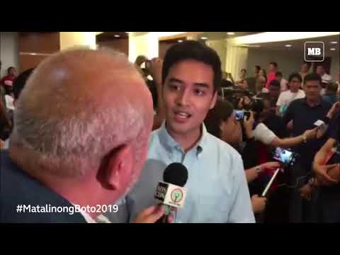 Pasig City Mayoral Bet Vico Sotto Talks To Some Members Of Media Before His Official Proclamation