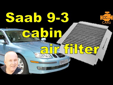 Saab 9-3 Cabin Air Filter Replacement | How To | Easy