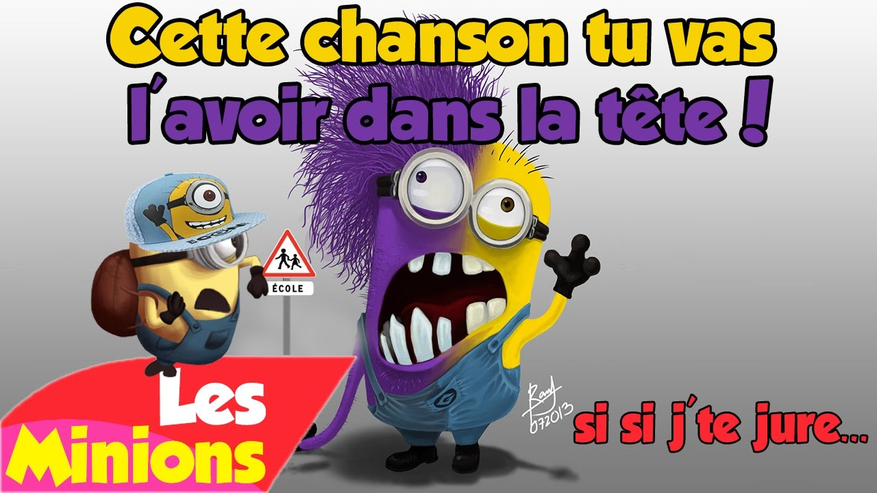 les minions la chanson des cours et des vacances youtube. Black Bedroom Furniture Sets. Home Design Ideas
