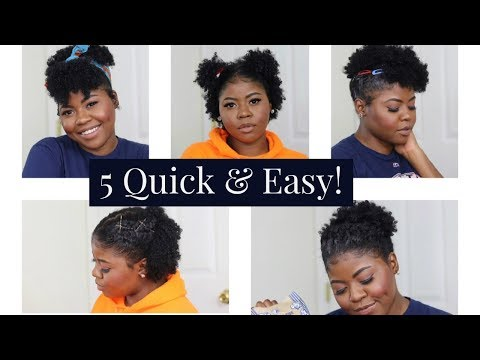 5 QUICK & EASY NATURAL HAIRSTYLES FOR BLACK WOMEN !