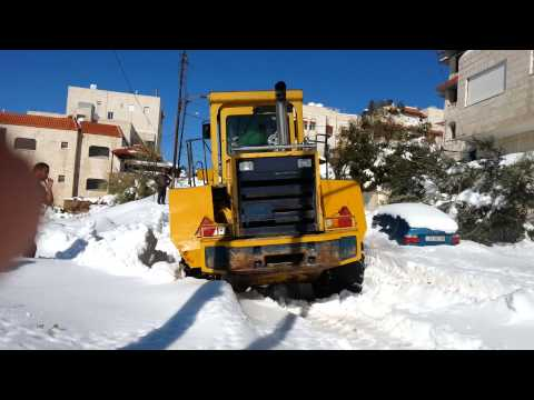 Bulldozer stuck in snow  (AMMAN - JORDAN)