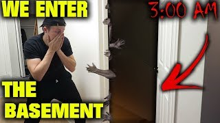 *SCARY* WE ENTERED OUR LOCKED BASEMENT AT 3 AM AND THIS HAPPENED...