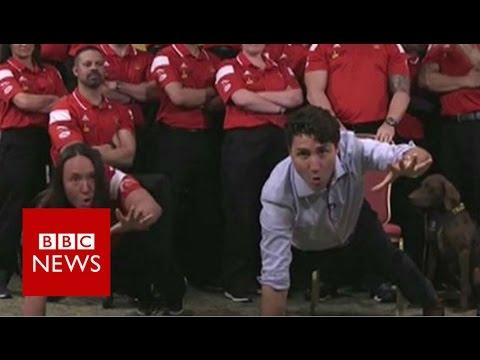 Boom! Justin Trudeau joins Invictus rivalry - BBC News
