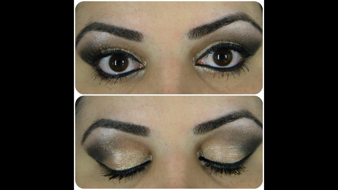 maquillaje ojos negros