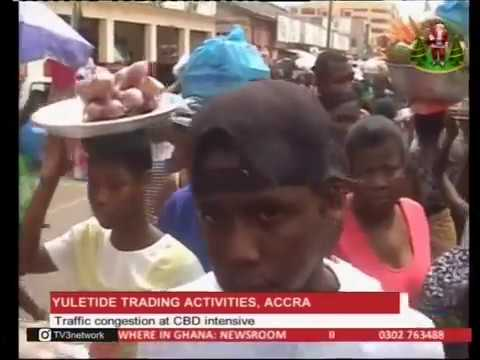 Traffic congestion at central business district of Accra - 23/12/2016