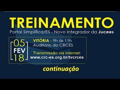 Treinamento Portal Simplifica/ES - Novo Integrador da Jucees (cont.)