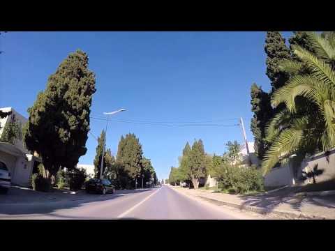 Tunisie Route vers Sidi Bou Saïd filmée en Gopro / Tunisia Road to Sidi Bou Said filmed by Gopro